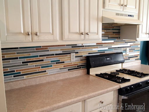 PAINT Your Backsplash To Look Like Tile!! {Sawdust And Embryos}