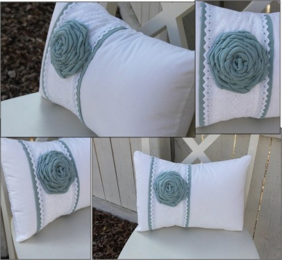 Blue and white Pillows