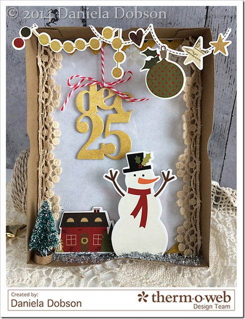December 25 shadow box by Daniela Dobson Therm O web