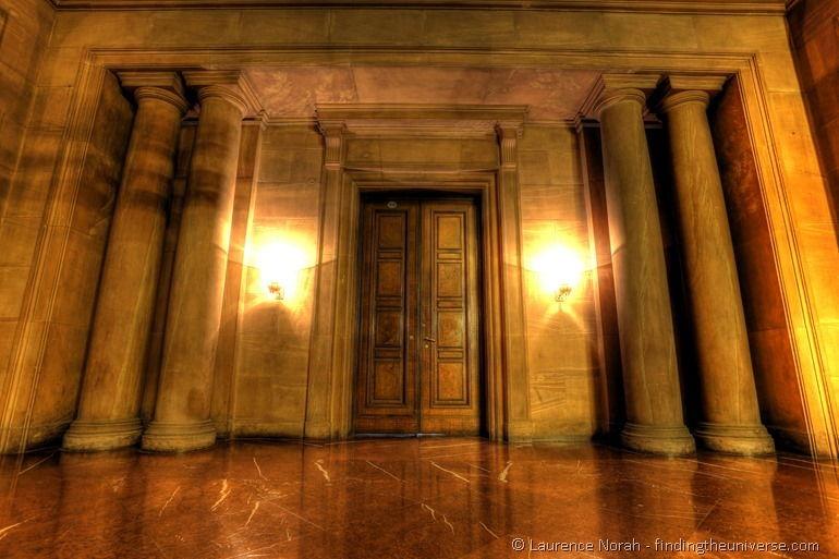 Doorway in imperial castle poznan