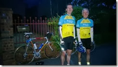 Me and Dad, about to head for the start at Unley