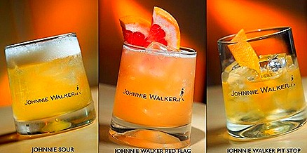 Johnnie Walker cocktails - Sour, red flag, pit stop