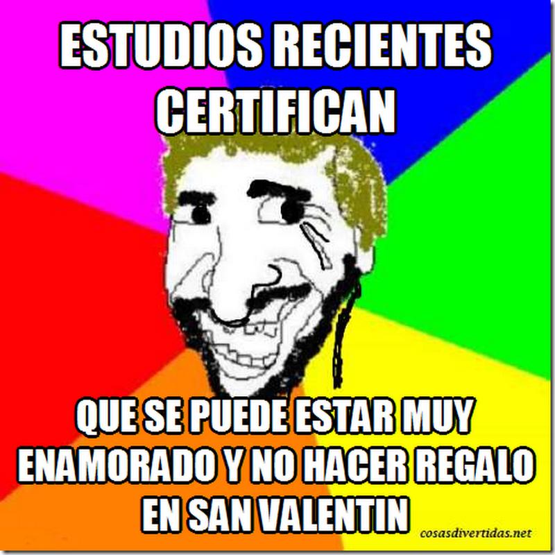 San Valentín, memes graciosos y humor