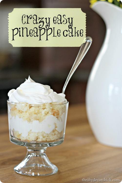 angel food cake and pineapple dessert