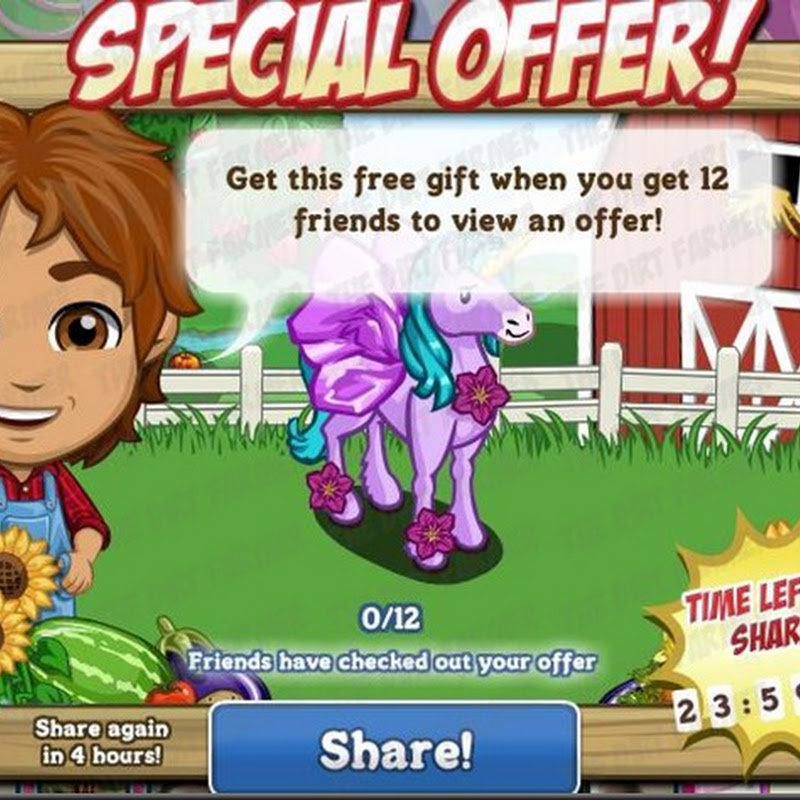 Farmville FREE Tissue Paper Flower Pegacorn
