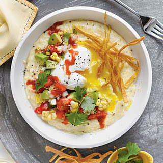 Cheese Grits with Poached Eggs