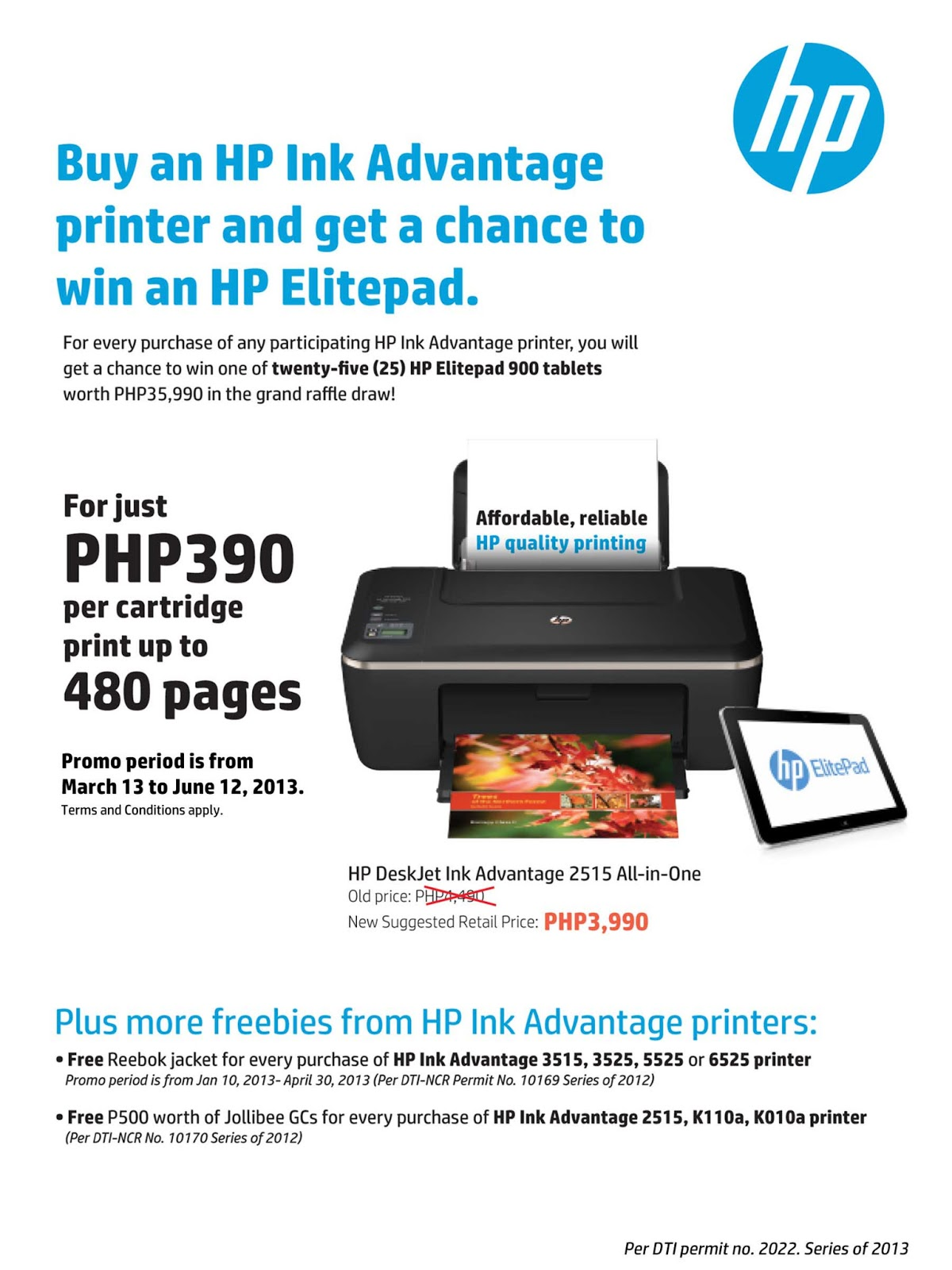 HP Ink Advantage Printers Raffle Promo