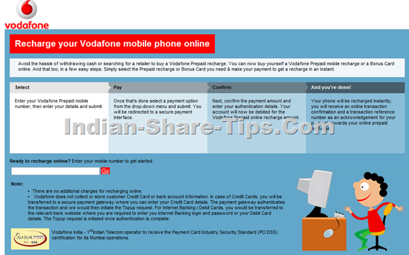 How to buy a Vodafone Prepaid Recharge Online? | Indian Stock Market