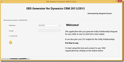 ERD Generator Tool for CRM 2013 - Microsoft Dynamics CRM