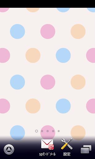ミルキーカラー水玉♪【アンドロイド壁紙】ver39