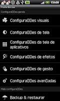 Screenshot of GO LauncherEX Portuguese langu
