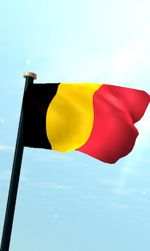 比利時旗3D動態桌布