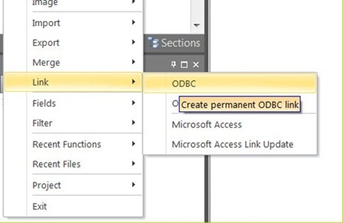 How to link MS Access database to Micromine using ODBC