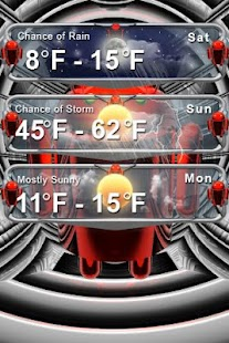 android weather clock - screenshot thumbnail