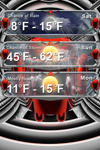 android weather clock - screenshot