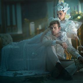 Just You and Me by Maybelle Blossom Dumlao-Sevillena - Wedding Bride & Groom ( makebelieve, maybelledumlaosevillena, wedding, portraits, philippines )