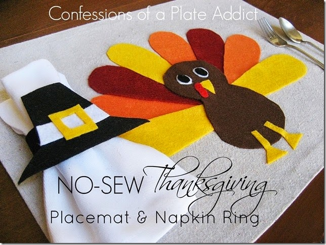 CONFESSIONS OF A PLATE ADDICT  No-Sew Thanksgiving Placemat and Napkin Ring