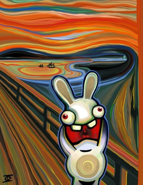 Rabbit Parody on Edvard Munch's The Scream