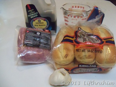 Ingredients for Pork Roast Dip