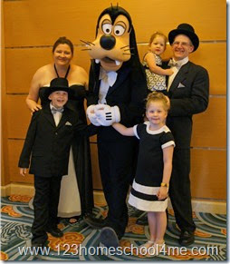 Disney Cruise LIne Formal Night with Goofy in a Tuxedo
