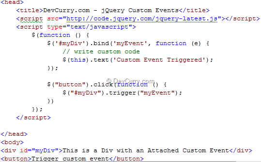 jQuery Custom Events