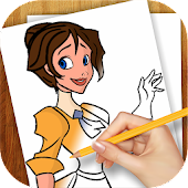 Game Learn to Draw Cartoon Princess APK for Kindle