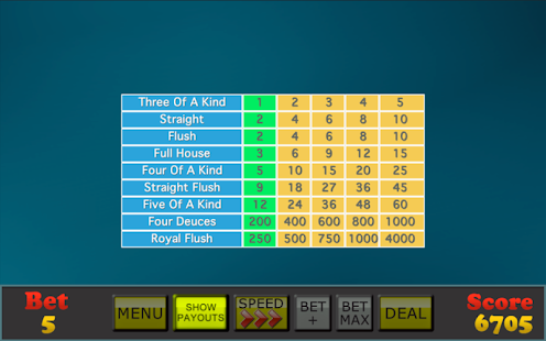 Mojo Video Poker- screenshot thumbnail