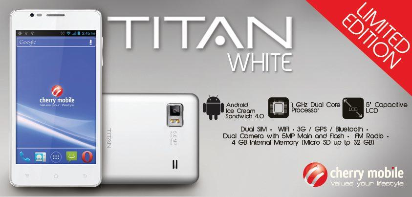 cherry mobile titan white version limited edition