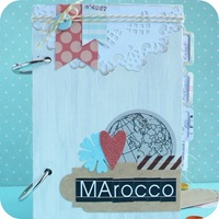27-cafe-creativo - big shot- scrapbooking - mini album viaggio marocco
