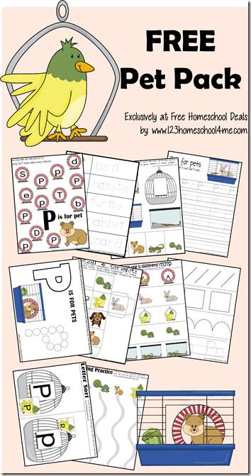 free pet worksheets