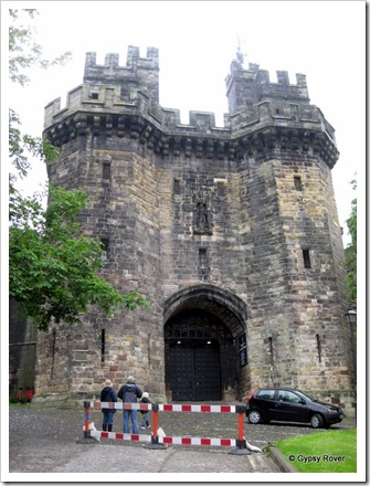 The prison side of Lancaster Castle. You can still see the portcullis.