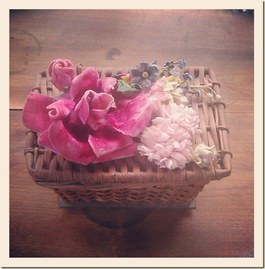 french basket with flowers 2