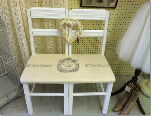 Double chair bench 071
