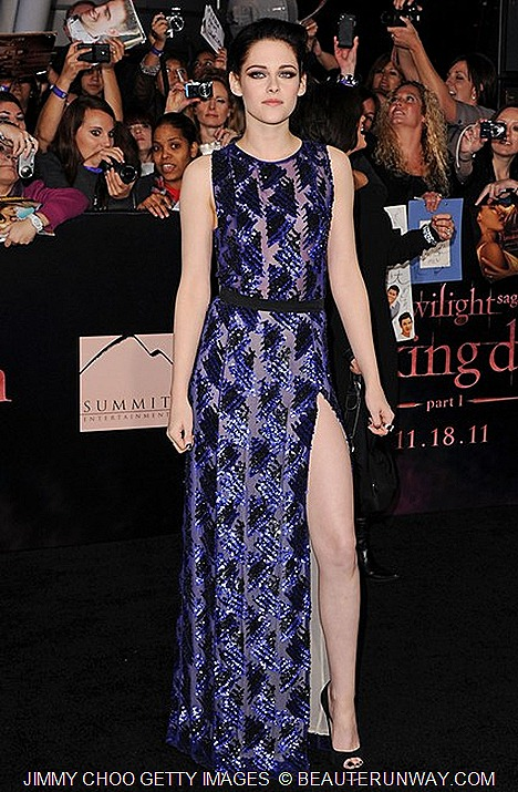 Kristen Stewart in Jimmy Choo VIBE at Los Angeles Premiere of The Twilight Saga Breaking Dawn - Part 1