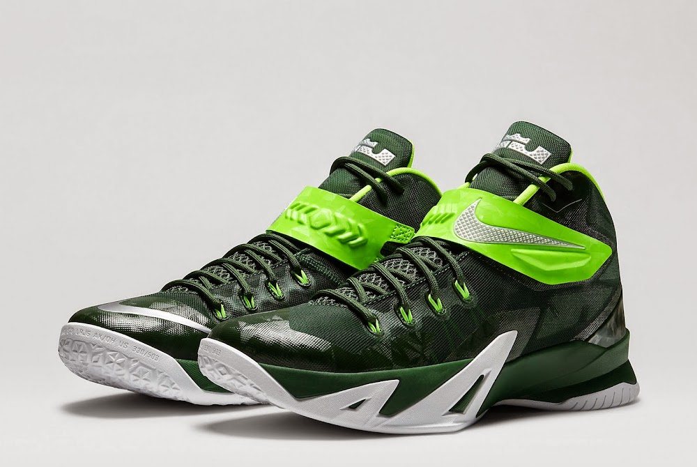 on sale fdc0b 0a869 Nike Zoom LeBron Soldier VIII TB 8211 Gorge Green amp Electric Green ...