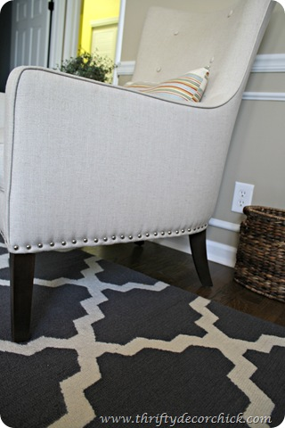 nailhead trim to dress up chair