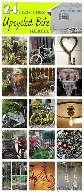 24 Cool and Quirky Upcycled Bike Projects at Hometalk
