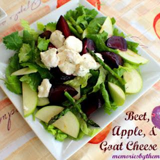 Beet, Apple & Goat Cheese Salad