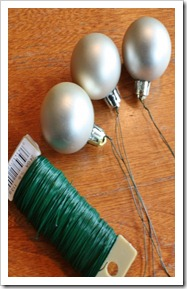 add wire to ornaments