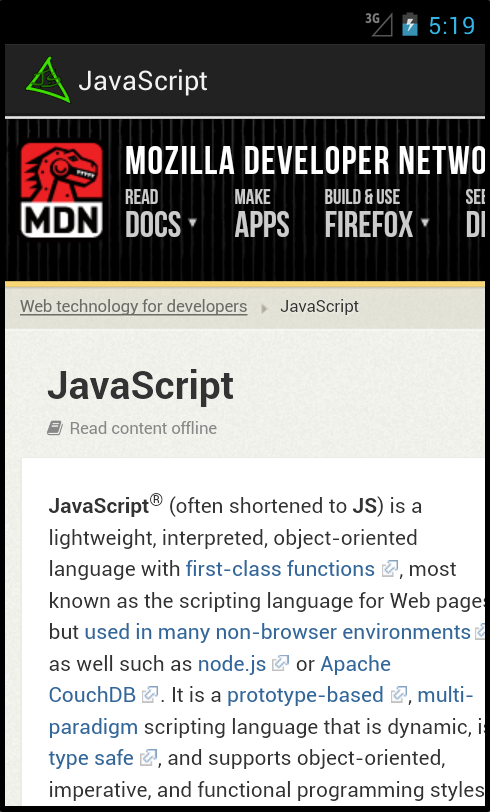 JavaScript - screenshot