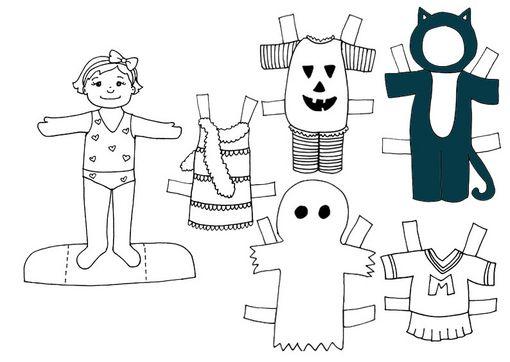 Recortables De Muñecas Para Halloween Actividades Para