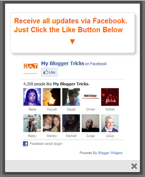 jquery popup facebook likebox