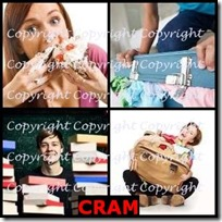 CRAM- 4 Pics 1 Word Answers 3 Letters