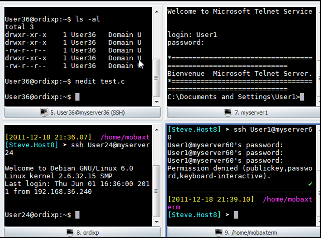 My Note on Solutions : A super great SSH shell on windows 7, far