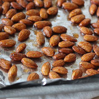 Maple and Spice Roasted Almonds.