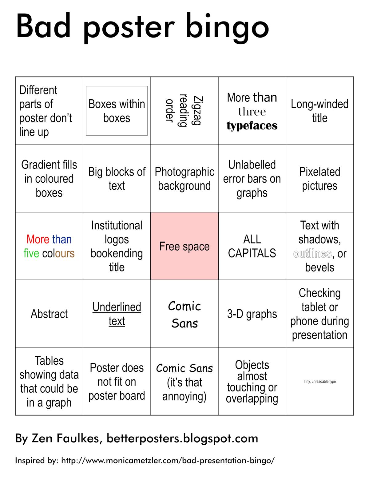 scientific bad poster bingo  u2013   home  koolinus