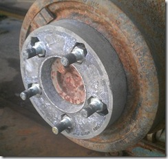 A very old style spacer not recommended for 4x4 use