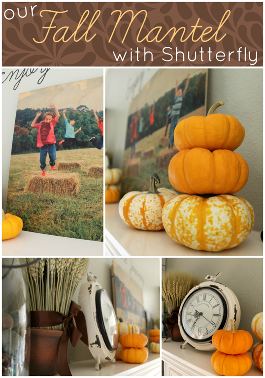 Our Fall Mantel with Shutterfly #shutterfly