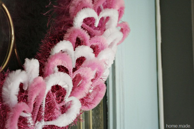 Valentine Wreath close up