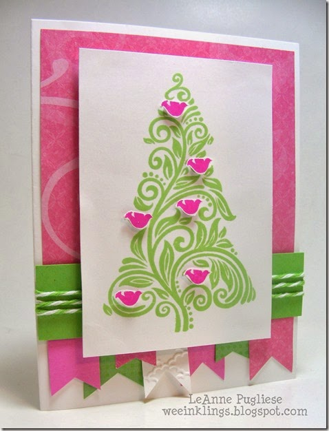 LeAnne Pugliese WeeInklings Merry Monday 100 Christmas Cards Stampin